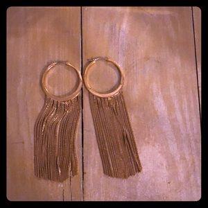 Gold Fringe Michael Kors Earrings